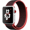 Часы Apple Watch Series 3 42mm Aluminum Nike+ Bright Crimson/BlackSport Loop (MQLE2)