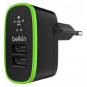 Асс. Сетевое ЗУ Belkin Home Charger 2 USB port Black