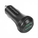 Acc. Автомобильное ЗУ RavPower Dual Ports USB Car Charger Black (RP-VC007)