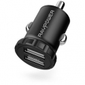 Acc. Автомобильное ЗУ RavPower Dual Ports USB Car Charger Black (RP-PC031)