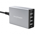 Асс. USB Hub RavPower USB Wall Charger Station Porsche Design 4xUSB 40W Silver (RP-PC030)