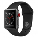 Часы Apple Watch Series 3 38mm Aluminum Black Sport Band (MQJP2)
