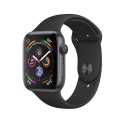 Часы Apple Watch Series 4 44mm Aluminum Black Sport Band (MU6D2)