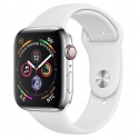 Часы Apple Watch Series 4 44mm Stainless Steel White Sport Band (MTV22,MTX02)
