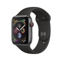 Часы Apple Watch Series 4 44mm Aluminum BlackSport Band (MTUW2)