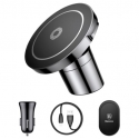 Acc. Автодержатель + Беспроводное ЗУ Baseus Big Ears Car Mount Wireless Charger Black (WXER=01)
