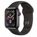 Часы Apple Watch Series 4 40mm Stainless Steel Black Sport band (MTUN2)
