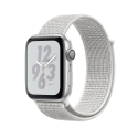 Часы Apple Watch Series 4 40mm Aluminum Nike+ White Nike Sport loop (MU7F2)