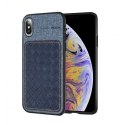 Acc. Чехол-накладка для iPhone Xs Max Rock Origin Series Denim Blue (Экокожа/Пластик) (Синий)