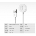 Асс. Кабель QGeeM Watch Magnetic Charging Cable (White) (1m)