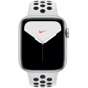 Часы Apple Watch Series 5 44mm Aluminum Nike+ Platinum/Black Nike Sport Band (MX3V2)