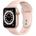 Годинники Apple Watch Series 6 GPS 40mm Gold Aluminum Силікон Case with Pink Sand Sport B. (MG123)
