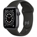 Часы Apple Watch Series 6 GPS 44mm Space Gray Aluminum Case with Black Sport B. (M00H3)