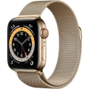 Часы Apple Watch Series 6 GPS + Cellular 44mm Gold STEEL Case w. Gold Milanese L. (M07P3)