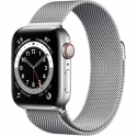 Годинники Apple Watch Series 6 GPS + LTE 44mm Silver STEEL Case w. Silver Milanese L. (M07M3)
