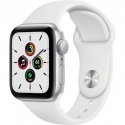 Годинники Apple SE GPS 44mm Silver Aluminum Case with White Sport B. (MYDQ2)