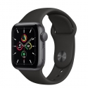Годинники Apple SE GPS 44mm Space Gray Aluminum Силікон Case with Black Sport B. (MYDT2)